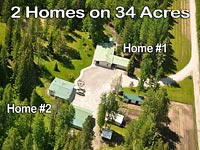 2 homes and multiple outbuildings on 34 acres