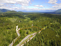 Spectacular mountain views and usable land on this end of the road gated community property is what you'll find when visiting this beautiful North Idaho parcel. The building site for this property is very private.