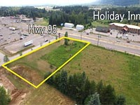 Incredible commercial land on Hwy 95 in a location that is in the heart of the commercial hub for Bonner County is now available.