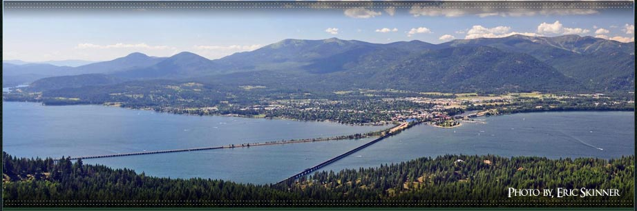 Sandpoint Idaho View Property, View from Gold Mountain