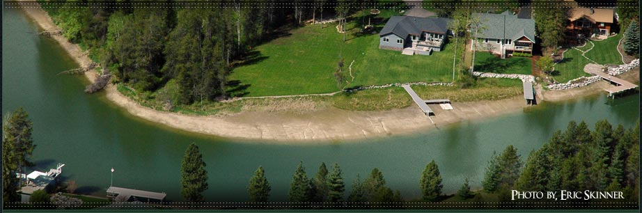 Waterfront homes and land in north idaho